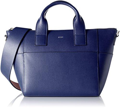 Joop Damen Grano Colorblocking Helena Handbag Mhz Henkeltasche, 14x39x25 cm Blau (Dark Blue)