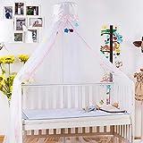Baby Moskitonetz Baby Bett Net Runde Dome Krippe Moskito Filetarbeit Kleinkind Baby Bett Moskito...