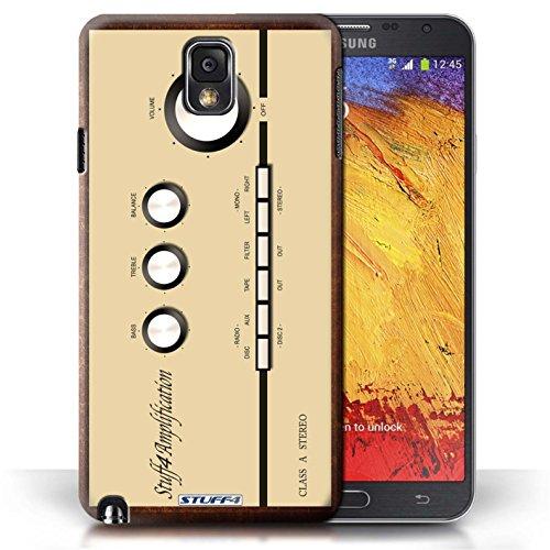 Kobalt® Imprimé Etui / Coque pour Samsung Galaxy Note 3 / Amp/Amplificateur conception / Série Retro Tech Amp/Amplificateur