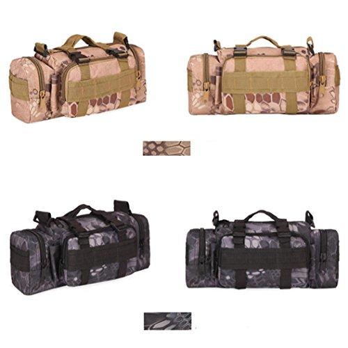 BYSTE Uomo Tasche tattiche militari Spalla Campeggio Escursionismo Borsa da camuffamento K