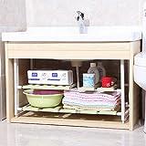 Badezimmer-Regal/Duschregal, Eckwaschbecken unter dem Waschbecken, Edelstahl, 2 Farben Handtuchständer, Ringe, Weiß, weiß