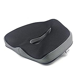 Valuetom Non-Slip Memory Foam Seat Cushion - Spinal Alignment Chair Pad Seat Cushion for Office Chair, Car, Truck, Plane, Wheelchairs, etc. for Relief from Sitting Back Pain