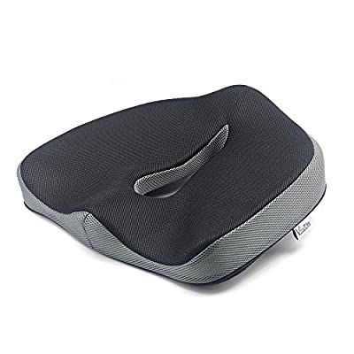 Valuetom Non-Slip Memory Foam Seat Cushion - Spinal Alignment Chair Pad Seat Cushion for Office Chair, Car, Truck, Plane, Wheelchairs, etc. for Relief from Sitting Back Pain produced by Valuetom - quick delivery from UK.