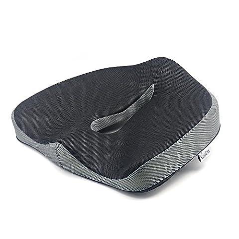 Valuetom Rutschfestes Memory Foam-Sitzkissen, Wirbensäulenausrichtung, Stuhlkissen Sitzkissen für Bürostuhl, Auto, LKW, Flugzeug, Rollstuhl usw. zur Linderung von Rückenschmerzen beim Sitzen