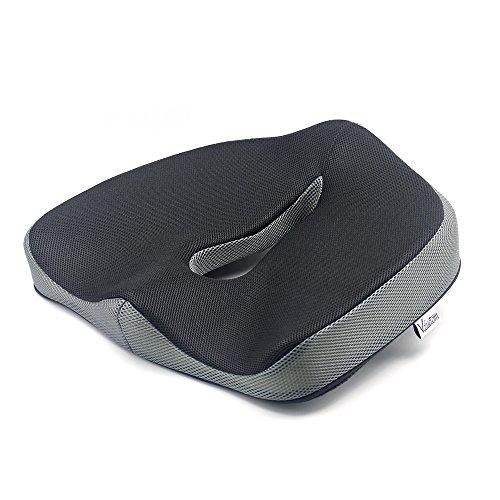 Valuetom cuscino per seduta ortopedico cuscino per sedia in schiuma a memoria, cuscino antiscivolo di coccige per ufficio, auto, sedia a rotelle