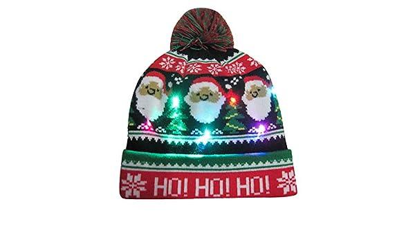 Allywit LED Light Up Hat Beanie Knit Cap f882634b430d
