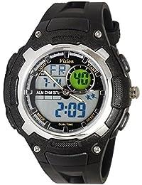 Vizion Black Dial Analog-Digital Dual Time BLACK Shade Watch For Men-8009017AD-1