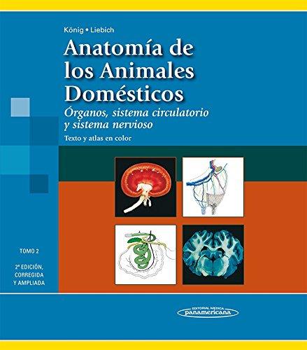 Anatomía de los Animales Domésticos. Tomo 2. Órganos, sistema circulatorio y sistema nervioso. Texto y Atlas en color