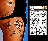 TATTOO ID XXL ORIGAMI animaux tatouage grand format ephemere temporaire hypoallergénique Fabriqué en FRANCE 1 planches 22cm x 14,5cm Homme Femme