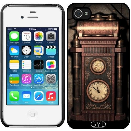 Leder Flip Case Tasche Hülle für Apple iPhone 6/6S - Steampunk-Generator Bronze by Britta Glodde Starre Kunststoff