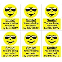 Smarts-Art 6 X You are Being Recorded On CCTV Self Adhesive Sign100Mmx75Mm Indoor Out Door