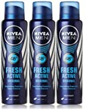 #1: Nivea Fresh Active Deodorant, 150ml (Buy 2 Get 1 Free)