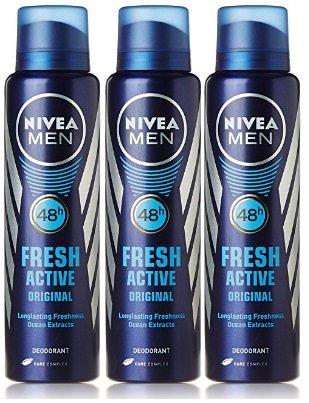Nivea Fresh Active Deodorant, 150ml (Buy 2 Get 1 Free)