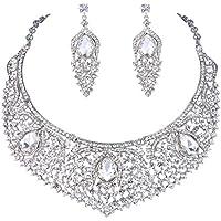 Ever Faith cristalli Swarovski Art Deco festa gioielli Set