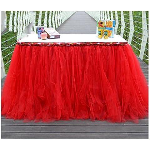 G&M 80 cm * 91,5 cmTablecloths Natale festa vestito Birthday Party tabella gonna rosso