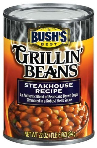 Bush\'s Best Grillin\' Beans Steakhouse Recipe 22 Oz. (Pack of 3) by N/A