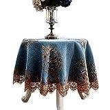 Tischdecke Tuch Europäischen Stil Couchtisch Tischdecke Chenille Einfache Tischdecke Blau,240Cm