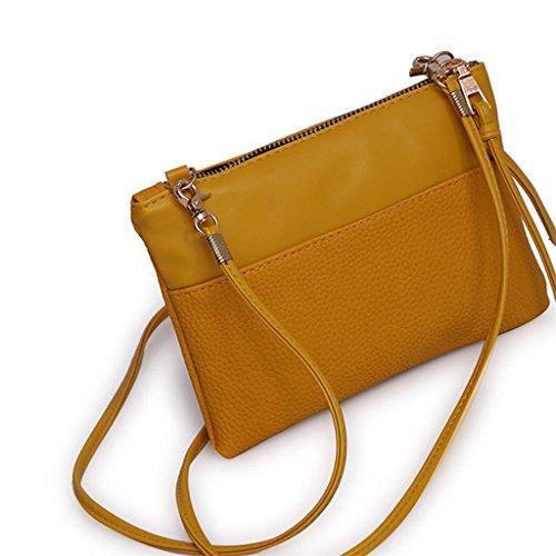 Longra Borsa a tracolla della borsa di modo delle donne Marrone