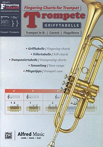 Alfred's Fingering Charts Instrumental Series: Grifftabelle Trompete | Fingering Charts Trumpet  |  Trompete  |  Buch