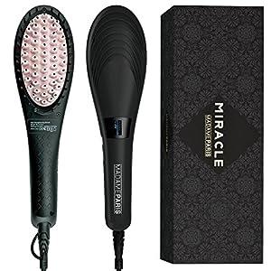 MadameParis ✮✮✮ Spazzola Lisciante top di gamma - Votata Blog Product dell'anno 2018 - Modello Miracle - Piastra Termica per Capelli - Lisciante capelli
