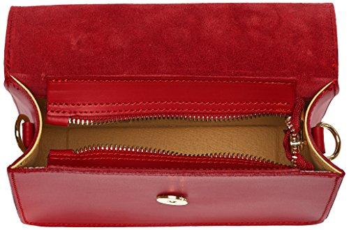 Chicca Borse 1535, Borsa a Spalla Donna, 20x14x7 cm (W x H x L) Rosso (Red)