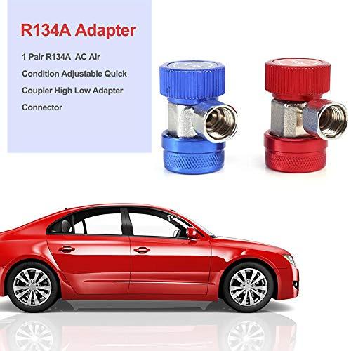 franktea R134a 1 Paar AC Klimaanlage Einstellbar Schnellwechsler High Low Adapter Steckerabdeckung