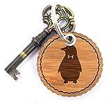 Mr. & Mrs. Panda Rundwelle Schlüsselanhänger Pinguin - Pinguin, Eisscholle, Nordpol, Anzug, Fliege, Wrack, Pingu Schlüsselanhänger, Anhänger, Taschenanhänger, Glücksbringer, Schlüsselband