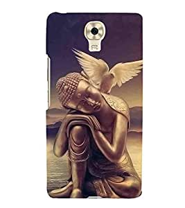 For Gionee M6 golden budh with bird, budh with white bird Designer Printed High Quality Smooth Matte Protective Mobile Case Back Pouch Cover by APEX