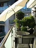 Balkon - Schirme - Halter für Schirmstöcke mit EDELSTAHLHÜLSE bis 33 mm mit 360 ° patentierter Multifunktions- Halterung ® Spannbacken bis 55 mm Ø + GUMMISCHUTZKAPPEN zur kratzfreien BEFESTIGUNG - INNOVATIONEN MADE in GERMANY - HOLLY PRODUKTE STABIELO ® -- holly-sunshade ® - Video: https://vimeo.com/241400344 - BILD zeigt unsere patentierte Holly Halterung bei der Befestighung eines Schirmes am Geländer. Der Schirm ist nicht im Preis enthalten -