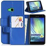 DONZO Wallet Structure Funda para Microsoft Lumia 535 azul