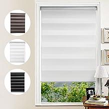 KINLO 60/80/90/100 x 150 CM Día/Noche Ajustable Cortina Termica Enrollable Estor Opaco Doble Tela Resistente a UV Sin Perforar para Ventana
