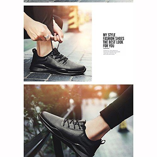 Xiaolin Hommes Chaussures Version Coréenne Trend Plate Chaussures Sauvage Étudiant Tide Chaussures Hommes Chaussures (couleur: Blackwhite, Taille: Eu / 41 / Uk7.5-8 / Cn42) Noir Blanc