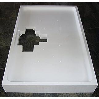 Universal Duschwannenträger aus Styropor für Acryl Duschen 120 x 90 x 2,5 cm superflach; Höhe des Trägers 14,5cm