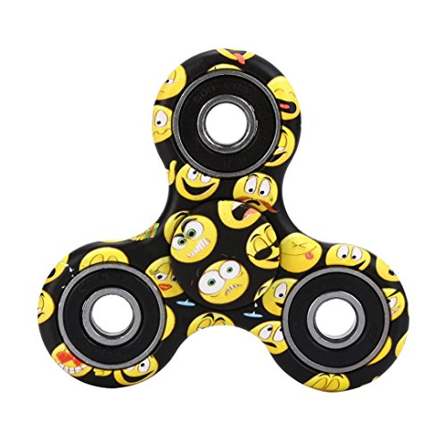 Price comparison product image Sansee Tri-Spinner Fidget Multi-Color Hand Spinner Camouflage EDC Focus Toys (Black)