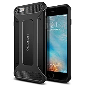 Spigen Coque iPhone 6s Plus, [Rugged Armor] Anti-Choc, Anti-Chute [Noir] Protection Renforcée, Coque pour iPhone 6 Plus / 6s Plus (SGP11643)