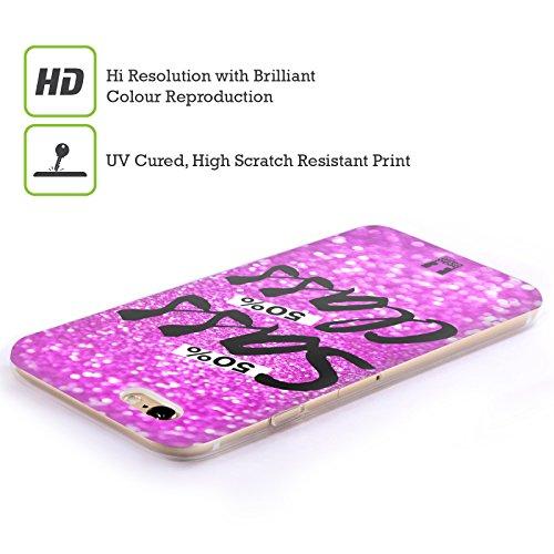 Head Case Designs Giallo Pattern Gingham Cover Morbida In Gel Per Apple iPhone 7 Plus / 8 Plus Rosa