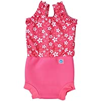 Splash About Baby Girl Happy Nappy Costume-Pattern Large/6-14 Months, Pink Blossom, Large (6-14 Month)