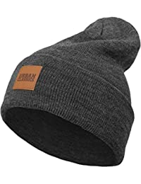 Leatherpatch CRT Beanie Winter Mütze (Charcoal)