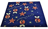 CASA TESSILE Tappeto di Natale Blu ADDOBBI Natalizi passatoia 97x100 cm. B3