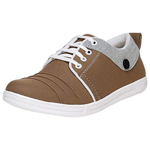 Emosis Stylish Grey Blue Brown Casual Office Corporate Party Wear Canvas Lace-Up Derby Shoes For Men