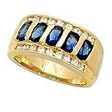 Sapphire Ring Yellow Gold