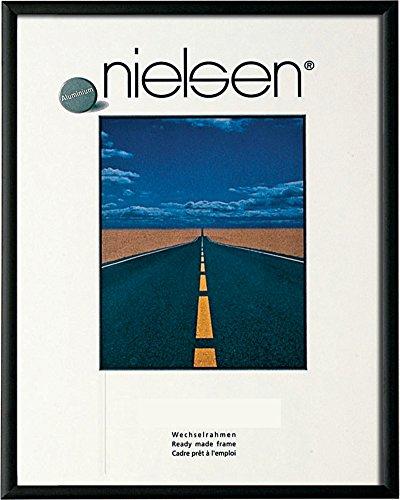 Nielsen Bilderrahmen, verglast, perlmatt, A3 / 29,7 x 42 cm, schwarz