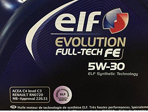car lubrifiant elf evolution full tech fe 5w30 5 litres autos et motos. Black Bedroom Furniture Sets. Home Design Ideas