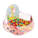 WYQ Kinder Ball Pit Laufstall, Kleinkind Spielen Sea Ball Pool Set (120 cm Baby Laufstall, Mini Basketballkorb, Aufbewahrungstasche, 300 Kunststoffkugel) Laufgitter Ställe (Farbe : Pink)
