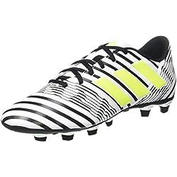 adidas Nemeziz 17.4 FxG, Botas de fútbol para Hombre, (Ftwbla/Amasol/Negbas), 44 EU