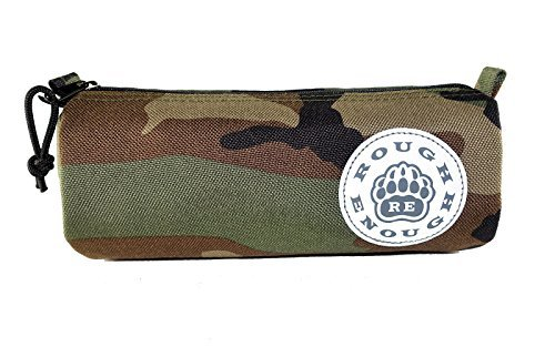 Estuche escolar pequeño, con diseño «Rough Enough» y logotipo, color Camo