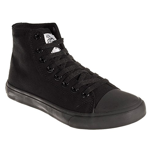 Blue Banana Canvas Hi Top Sneaker (Schwarz) - 38 (Hi Canvas Top)