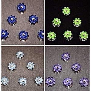 6 Curlies Haarspiralen Oktoberfest Dirndl blau, hellgrün, hellblau, lavendel