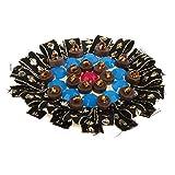 Fenteer Blumen Aufnäher Aufbügler Bügelbilder Patches Applikation mit Perlen für Kleider zum aufbügeln und aufnähen - Schwarz 1