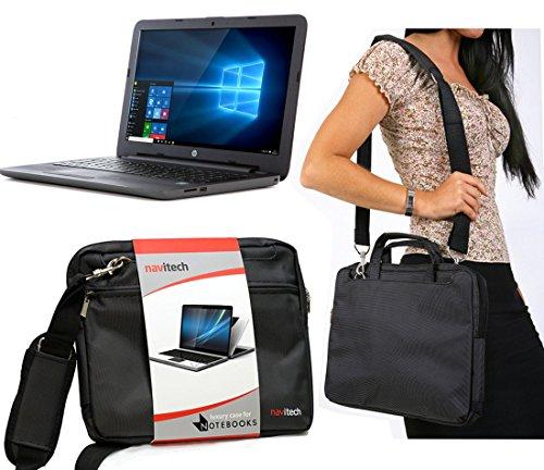 Navitech Tragetasche für HP 250 G5 i5 Laptop X0Q78ES, wasserabweisend, stoßdämpfend, Schwarz